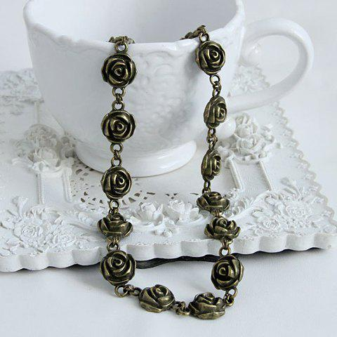 Store Flower Decorated Retro Hairband For Women
