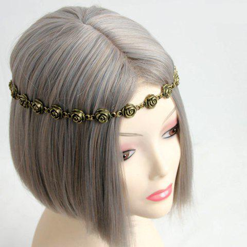 Hot Flower Decorated Retro Hairband For Women - AS THE PICTURE  Mobile