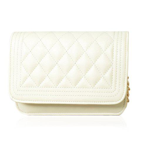 Cheap Women's Candy Color Handbag Shoulder Chain Bag Cross-body OFF WHITE