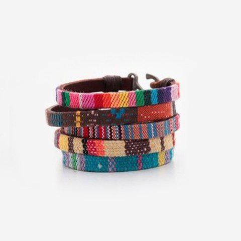 Cheap Faux Leather Woven Bracelet (ONE PIECE)