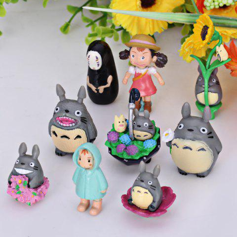 Discount Nine Toy Per Package My Neighbor Totoro Cartoon Character Model for Cartoon Fans