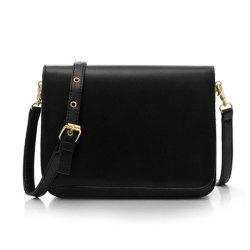 Stylish PU Leather and Solid Color Design Women's Crossbody Bag -