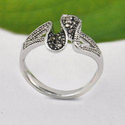 Chic Rhinestone Curved Ring For Women -