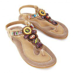 Stylish Flip-Flop and Beading Design Women's Sandals -