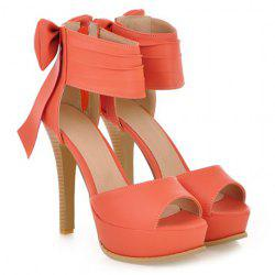 Stunning Bow and Stiletto Design Women's Sandals -