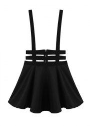 Punk Style High Waisted Solid Color A-Line Design Women's Braces -