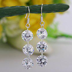 Pair of Alloy Diamante Pendant Drop Earrings