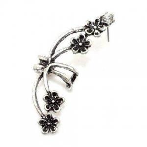 Punk Rhinestone Flower Ear Cuff (Piece) - COLOR ASSORTED