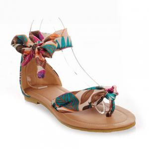 Bohemia Print and Flip-Flop Design Women's Sandals -