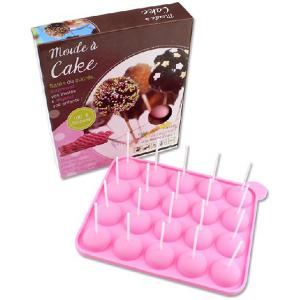 Environment Protection Silicone DIY Lollipop 20 Cup Mould with 25PCS Sticks -