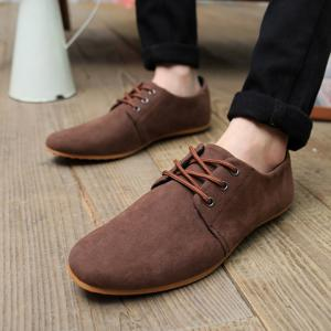 Business Suede and Solid Color Design Men's Formal Shoes -
