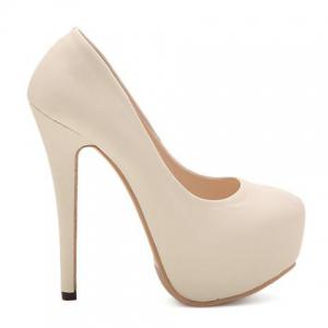 Sexy Stiletto and Round Toe Design Women's Pumps -