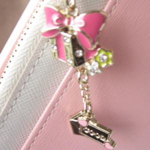 Sweet Bow and Rhinestones Design Women's Clutch Wallet -