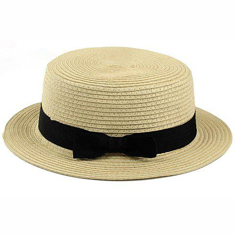 Bowknot Band 1920 Straw Hat - COLOR ASSORTED