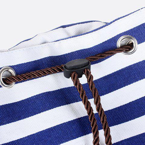 Buy Preppy Striped and Splice Design Women's Satchel - BLACK  Mobile