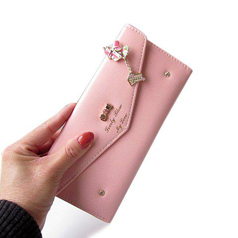 Store Sweet Bow and Rhinestones Design Women's Clutch Wallet