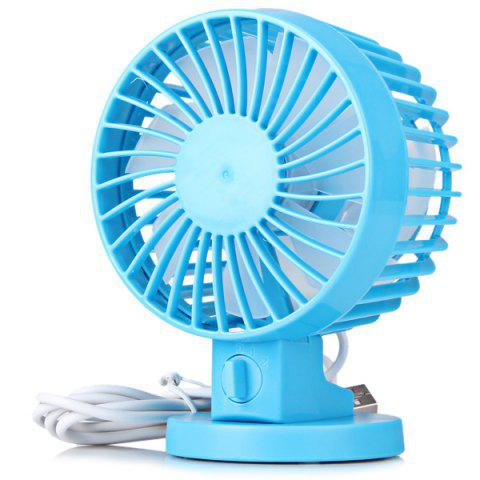 Latest USB Strong Wind Low Noise Rotating Shift Control Double Blade Fan for PC Tablet