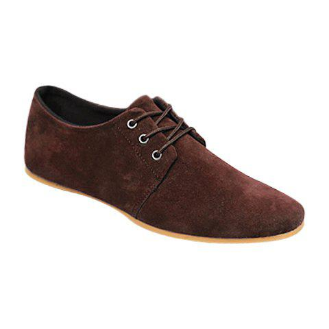 Fashion Business Suede and Solid Color Design Men's Formal Shoes