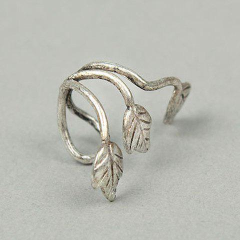 Fancy Vintage Metal Leaf Pattern Ear Cuff
