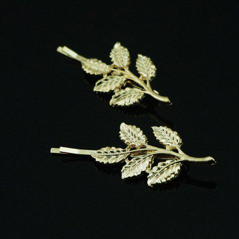Discount Characteristic Leaf Pattern Metal Hairpin For Women    (ONE PIECE)