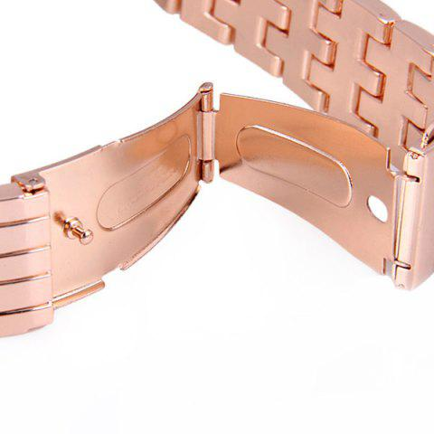Online GENEVA Quartz Watch with Diamonds Round Dial and Steel Watch Band for Women - ROSE GOLD  Mobile