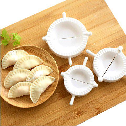 Hot Environment Protection 3PCS Plastic Dumplings Moulds