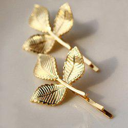 Characteristic Leaf Pattern Hairpin For Women    (ONE PIECE) -