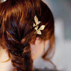 Chic Leaf Shape Solid Color Hairpin For Women