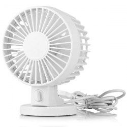 USB Strong Wind Low Noise Rotating Shift Control Double Blade Fan for PC Tablet -