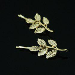 Characteristic Leaf Pattern Metal Hairpin For Women    (ONE PIECE) -