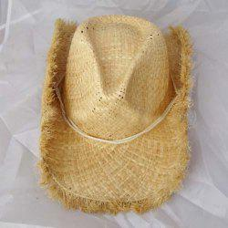 Simple Solid Color Rope Cowboy Hat For Women -