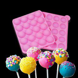 Environment Protection Silicone DIY Lollipop 20 Cup Mould with 25PCS Sticks