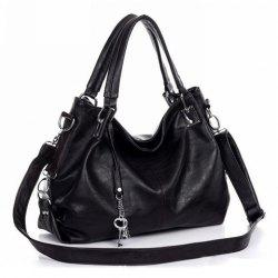 Simple Metal Pendant and Solid Color Design Women's Tote Bag -