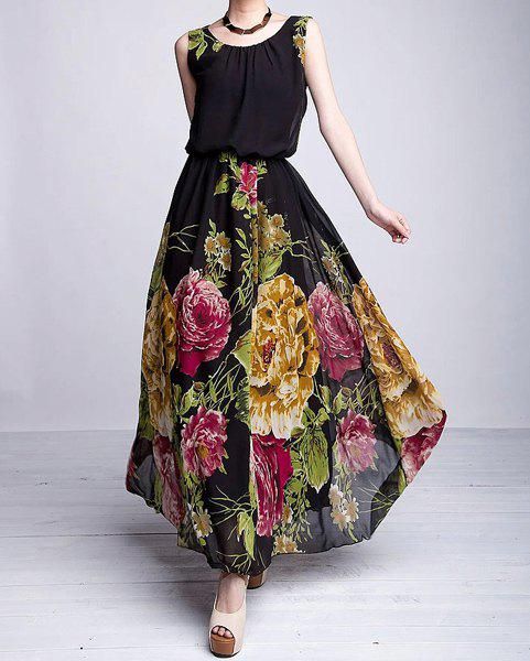 4a30dad8a79 Rosegal Sale  Plus Size Sleeveless Scoop Neck Floral Print Women s Dress -  Shesdeal.com