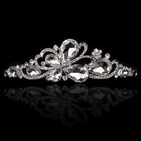 Latest Chic Rhinestone Butterfly Crown Tiara For Bride