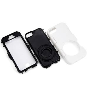 Anti - Shock Anti - Dust Anti - Splash Plastic and TPU Case with Circle Stand for iPhone 5 5S 5C -