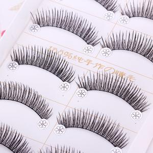F4 5 x Pairs of Long and Short False Eyelashes Big Eyes Fake Eye Lashes Makeup Cosmetic for Girls Women -