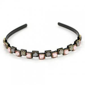Elegant Colored Square Faux Gem Hairband For Women -