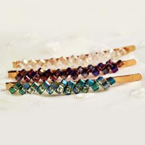 One Piece of Chic Rhinestone Colored Hairpin For Women - COLOR ASSORTED