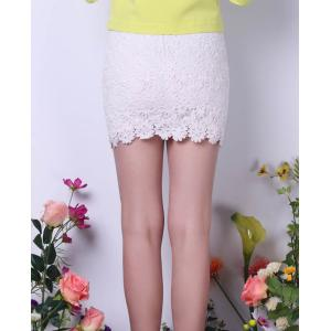 Bodycon Lace Mini Skirt -