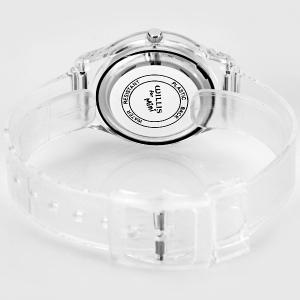 Stylish Quartz Watch Oil Painting Pattern Analog Indicate Rubber Watch Band for Women -
