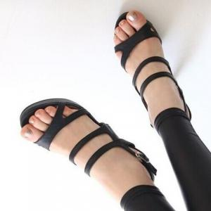 Party Stiletto and Solid Color Design Women's Sandals -