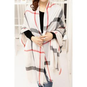 Stylish Plaid Decorated Scarf For Women - COLOR ASSORTED