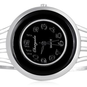 Water Resistant Stylish Quartz Watch with Analog Indicate Steel Watchband for Women -