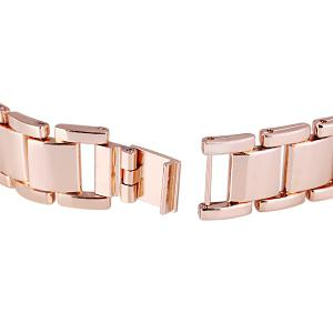 Delicate Quartz Watch with Diamonds Analog Indicate Steel Watchband for Women - CHAMPAGNE GOLD