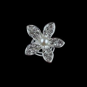 Cute Rhinestone Flower Hairpin For Bride - As The Picture - 7