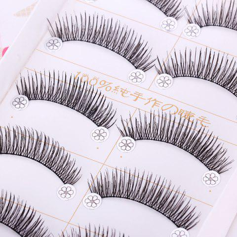 Chic F4 5 x Pairs of Long and Short False Eyelashes Big Eyes Fake Eye Lashes Makeup Cosmetic for Girls Women -   Mobile