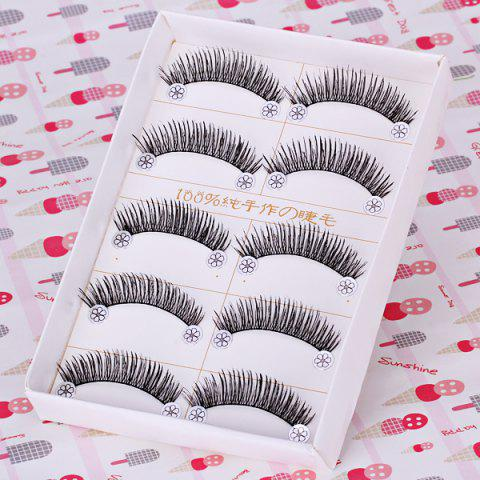 Discount F4 5 x Pairs of Long and Short False Eyelashes Big Eyes Fake Eye Lashes Makeup Cosmetic for Girls Women -   Mobile