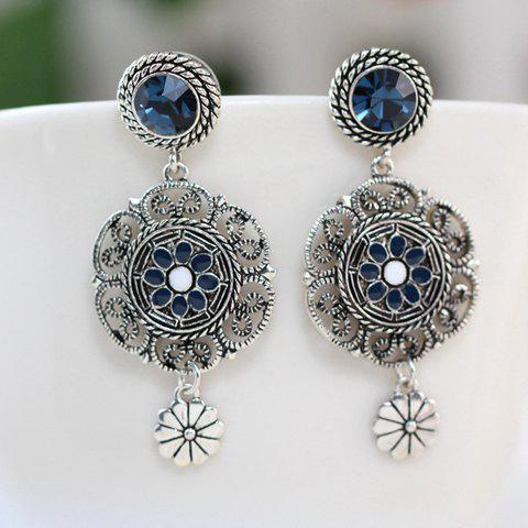 Shops Fake Crystal Flower Drop Earrings