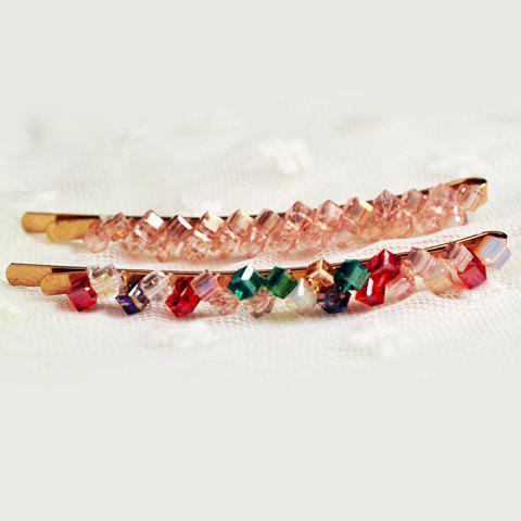 Online One Piece of Chic Rhinestone Colored Hairpin For Women - COLOR ASSORTED  Mobile